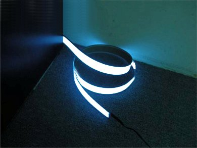 Image of GrayBean 200cm2cm White Neon Glowing Strobing Electroluminescent Ribbon