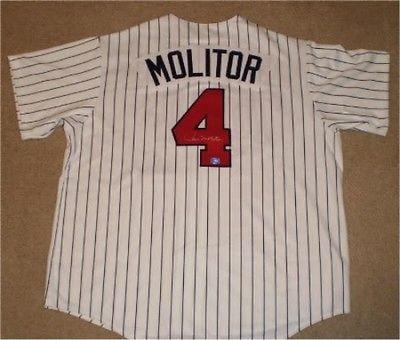 Paul Molitor Autographed Signed Minnesota Twins #4 Majestic Jersey COA