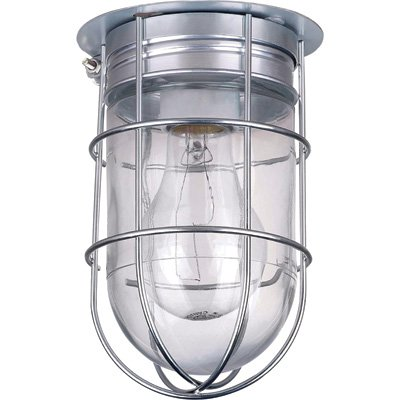 Images for Canarm Ceiling/Wall Barn Light with Cage - 120V, Model# BL04CWG