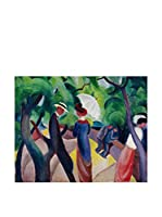Especial Arte Lienzo Promenade - Macke August Multicolor