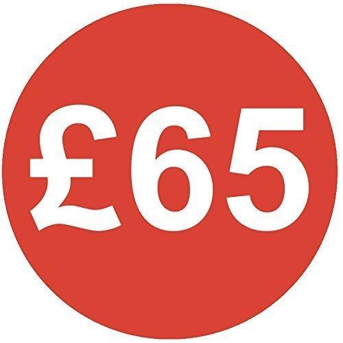 Audioprint Lot. 5000Lot de Prix £65autocollants 30mm rouge