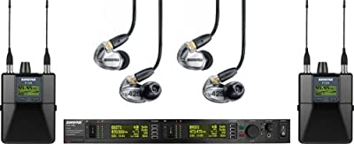 Shure Dual-Channel Personal Monitoring System - PSM®1000 Wireless System with(2) Bodypack Receivers and (2) SE425-CL Sound Isolating Earphones from Shure Incorporated
