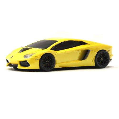 Lumen ランボルギーニ エルピー700 ニ ワイヤレス オプティカル カーマウス 1750dpi イエロー / LB-LP700 Lamborghini Wireless Optical Car Mouse Blue Eye Engine LB-LP700-4-YL