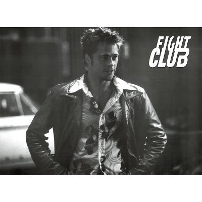 Brad Pitt Leather Jacket Fight Club. Fight Club Movie (Brad Pitt,