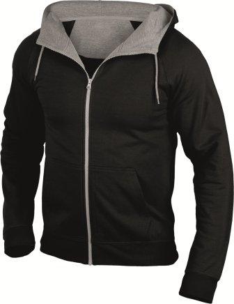 Hanes 7750 Mens Cool-DRI® Zip Up Hoodie Hooded Sweat Jacket Black S