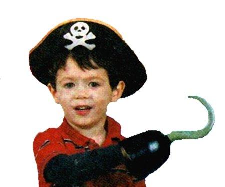 Pirate Costume Accessories - Child Felt Hat + Pirate Hook