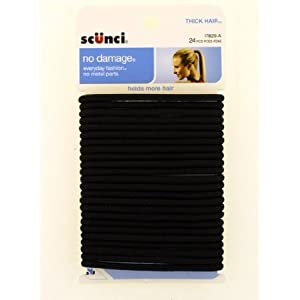 Scunci Effortless Beauty Thick Hair No-damage Black Elastics, 5 Mm, 24-Count : Ponytail Holders  Coupons Promo Codes Discounts 2013 images