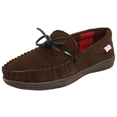 Tamarac  by Slippers International 7161PF Men's Trailer Moccasin,Rootbeer,7 D(M) US