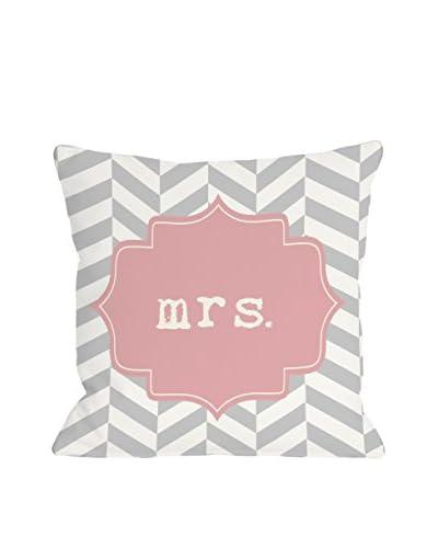 One Bella Casa Mrs. Chevron Pillow, Pink