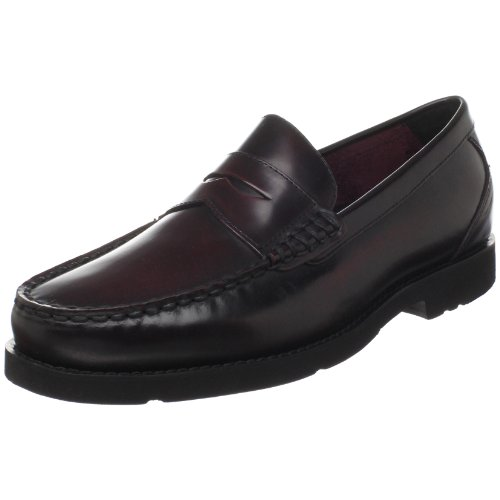 Rockport Men's Shakespeare Circle Penny Loafer,Burgundy Brush Off,10 M US