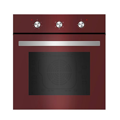 Empava Tempered Glass Electric Built-in Single Wall Oven 2000W 110V, Red (Small Built In Oven compare prices)