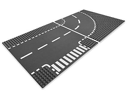 Lego - A1104389 - Virage Et Croisement - City