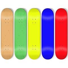 Buy Moose Blank Skateboard Decks (Set of 5, 7.75, Assorted Colors, Grip) by Moose
