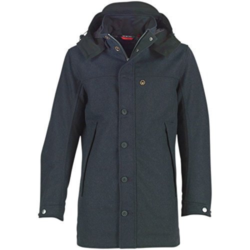Navy Duck and Cover Herren Heavy Molton Jacke Dunkel Navy