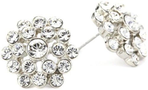 Nina Bridal Marseill Round Swarovski Crystal Cluster Stud