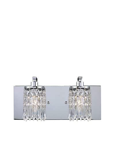 Artistic Lighting Optix 2-Light Vanity, Polished Chrome