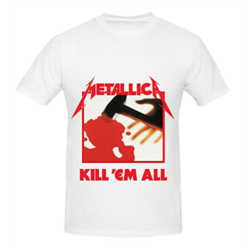 Metallica Kill 'em All Men Shirt Crew Neck Big And Tall White (Metallica Devil Shirt compare prices)