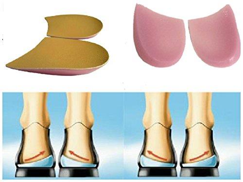 X脚 O脚 用 かかと インソール 靴 中敷 2枚 セット (肌色 2枚 セット)