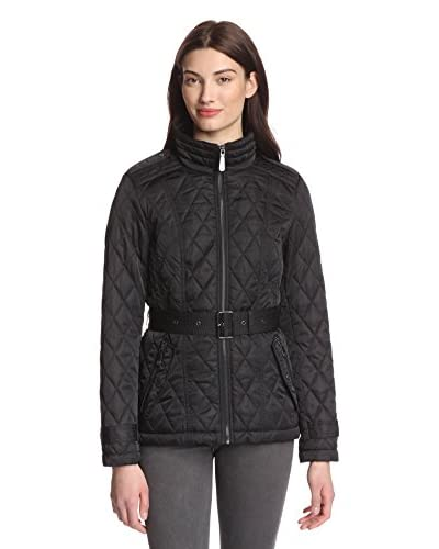 Vince Camuto Women's Quilted Jacket with Belt