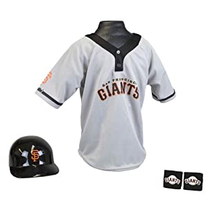 San Francisco Giants MLB Youth Helmet and Jersey Set by Franklin