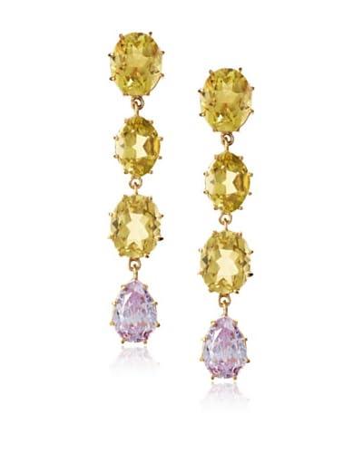 KiraKira Lemon & Lavender Drop Earrings