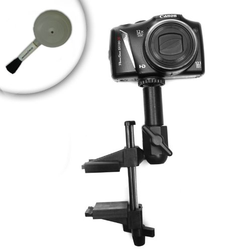 Heavy-Duty Camera and Video Powerful Vice Mount for Canon EOS Rebel T3 , Nikon D3100 , Pentax K-r and More Digital SLR Cameras **Includes Cleaning Brush