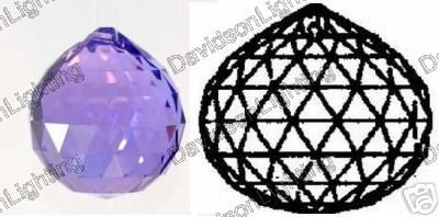40mm Vintage Crystal Purple Feng Shui Ball