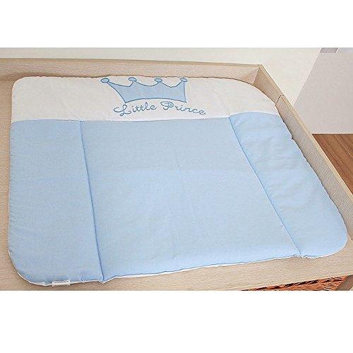 Matelas à langer en tissu grand format - Prince Bleu