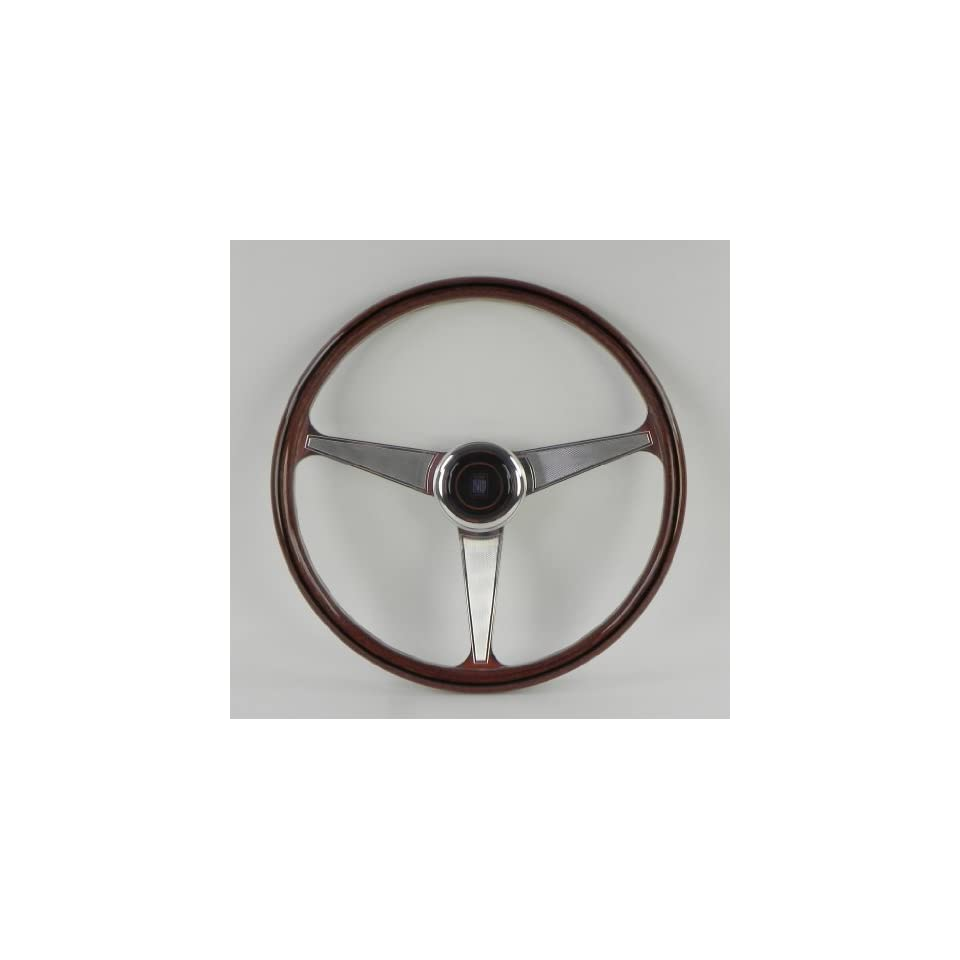 Nardi Steering Wheel   Anni 60   380mm (14.96 inches)   Wood with Polished Spokes   Part # 5012.39.3000
