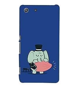 EPICCASE Funny elephant Mobile Back Case Cover For Sony Xperia M5 (Designer Case)