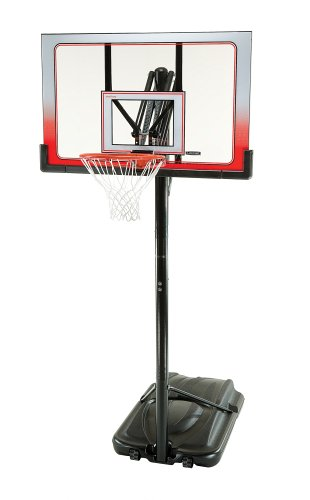 Lifetime 1558 XL Base Height-Adjustable Portable Basketball System with Clear 52-Inch Square Shatter Guard Backboard