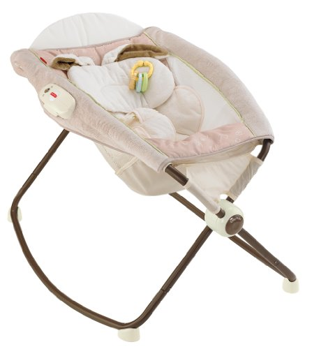 Fisher-Price Deluxe Newborn Vibrating Rock n' Play Sleeper, My Little Snugabunny