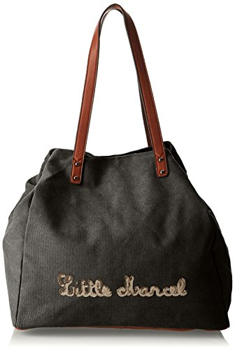 Little Marcel Harmony, Borsa a spalla donna , Nero (Black (nero)), Taille Unique