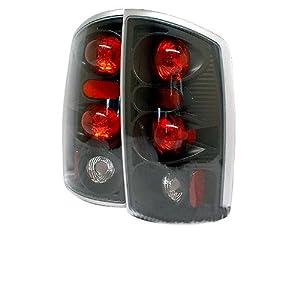 Dodge Ram 1500 2002 2003 2004 2005 2006 /Dodge Ram 2500/3500 2002 2003 2004 2005 Altezza Tail Lights - Black