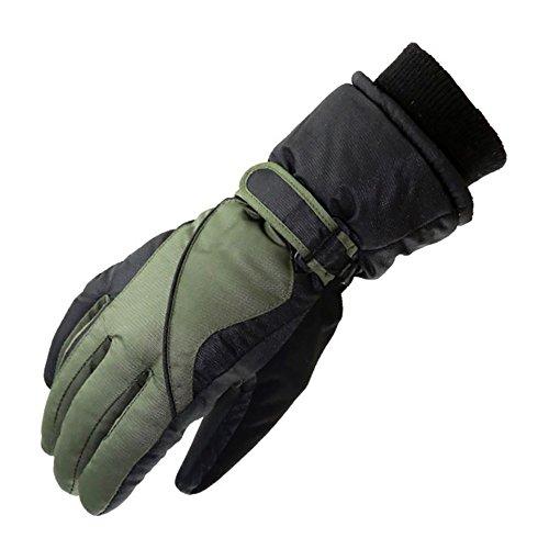 【Ludus Felix】スノーボード スキー グローブ 手袋 メンズ 防寒 防水 防風 ウインタースポーツ 自転車 バイク 全4色 (カーキ)
