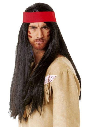 Imagen 1 de Cesar C290-001 - Peluca para disfraz de indio, color negro [importado de Alemania]