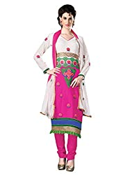 Yehii Women's Georgette Magenta Plain / Solid dress material Unstitched Salwar Kameez Dupatta for women party wear low price Below Sale Offer