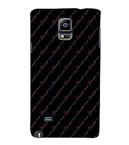 EPICCASE I love you Mobile Back Case Cover For Samsung Galaxy Note Edge (Designer Case)