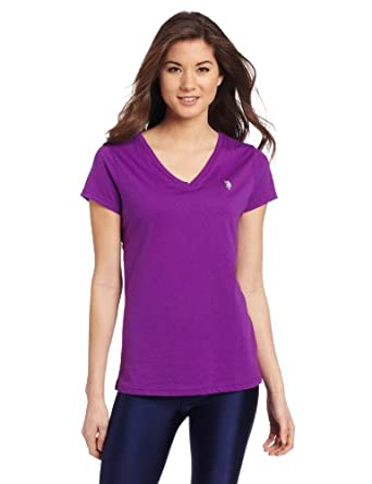 U.S. Polo Assn. Women's Short Sleeve T-shirt, Altitude Purple, Small