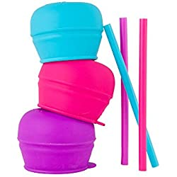 Boon Snug Straw 3Pk Pink/Purple/Blue