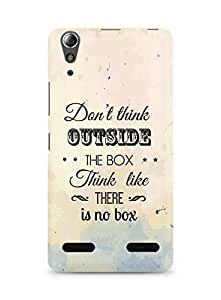 Amez Dont think Outside the Box think like there is no Box Back Cover For Lenovo A6000