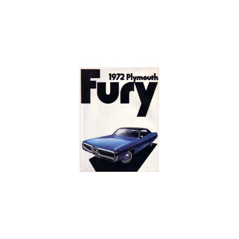 1972 PLYMOUTH FURY Sales Brochure Literature Book