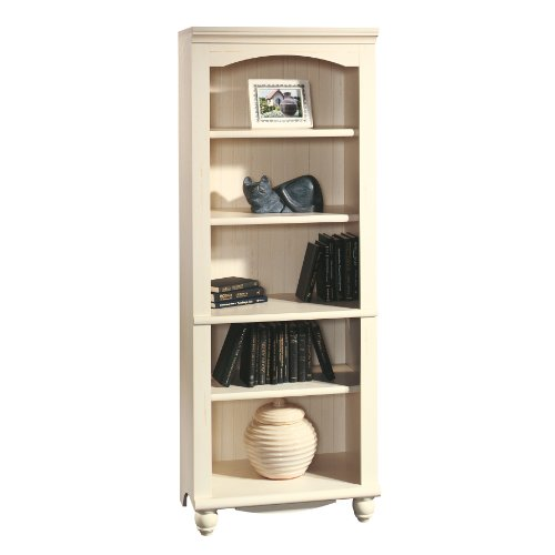Sauder Harbor View Library, Antiqued White (Vintage Bookshelf compare prices)