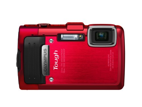 Olympus Stylus TG-830 iHS Digital Camera with 5x Optical Zoom and 3-Inch LCD (Red)