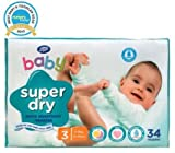Boots Baby Super Dry Nappies Size 3 Midi Carry Pack - 34 Nappies