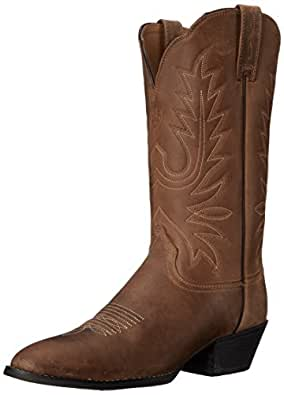 Ariat Women's Heritage Western R Toe Fashion Boot,  Distressed Brown,  5.5 B US