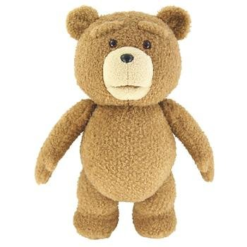 """CafePress Ted Movie Talking 16"""" Plush Ted Bear (Rated R)"""