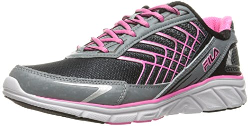 Fila Women's Memory Core Callibration 3 Running Shoe, Black/Monument/Sugarplum, 8 M US