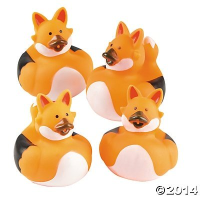 Sly Fox Rubber Ducks - 12 pcs