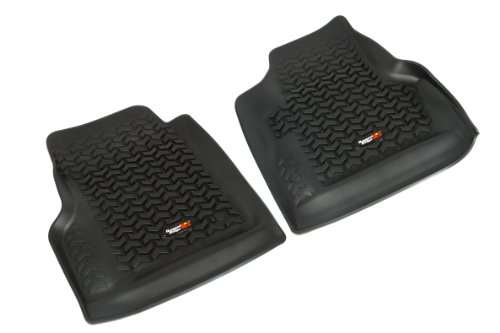 Rugged Ridge All-Terrain 12920.11 Black Front Row Floor Liner For Select Jeep Wrangler Models